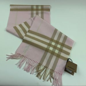 Burberry Giant Icon Check Cashmere Winter Scarf